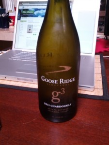 Goose Ridge Vinyards g3 2011 Chardonnay